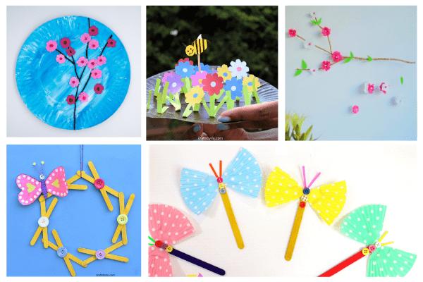 spring crafts for kids-toddlers, preschoolers, elementary school