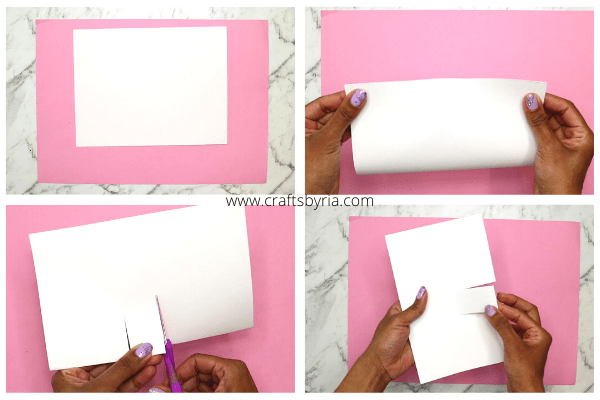 snowman fingerprint card-winter art and craft activities-step1