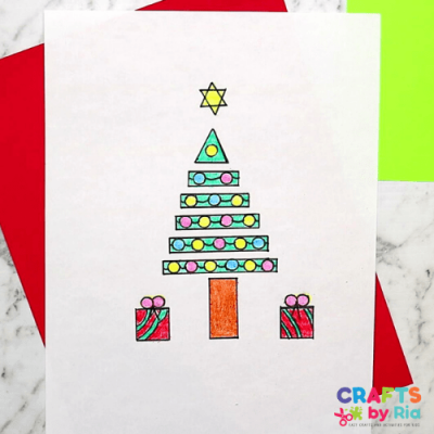 how to draw christmas tree using shapes-500x500-featured