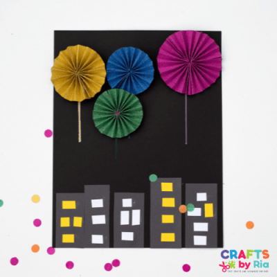 Accordion paper firework craft