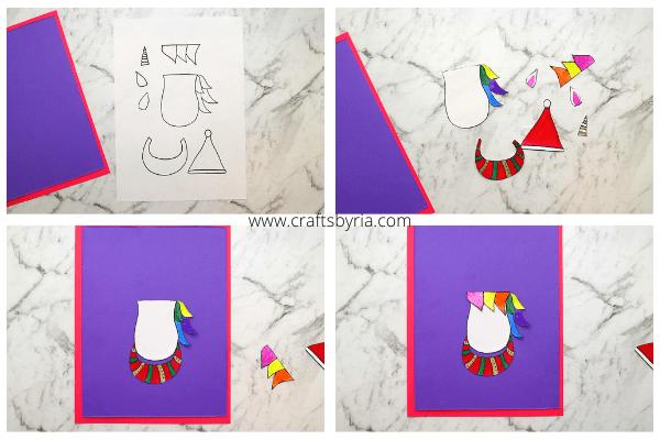 unicorn-christmas-card-idea-step-2-clor-the-printable-and-cut-them-out