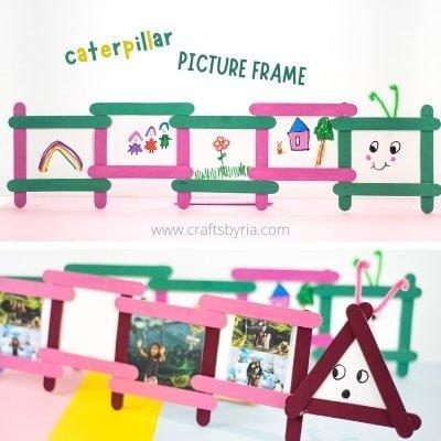 caterpillar-popsicle-stick-photo-frame-spring-craft