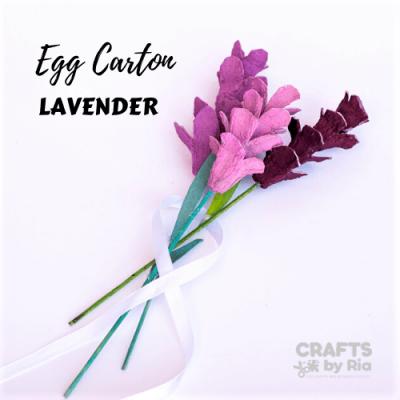 lavender egg carton flower-featured image