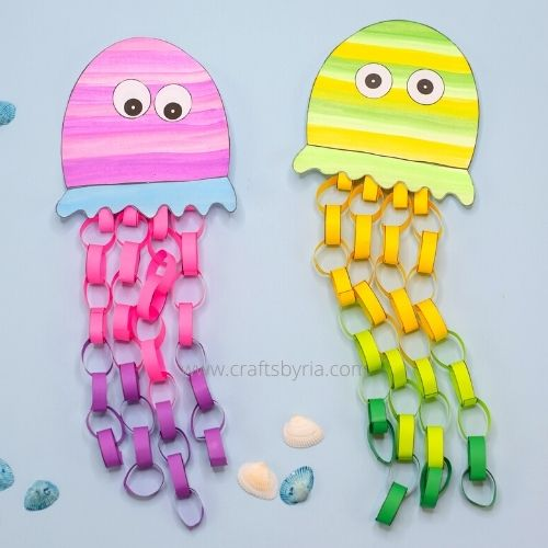 Jellyfish sea animal craft for kids