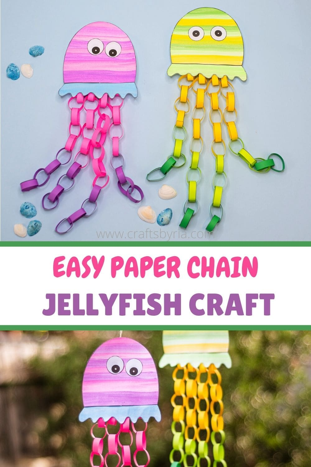 Paper jellyfish craft-image for pinterest