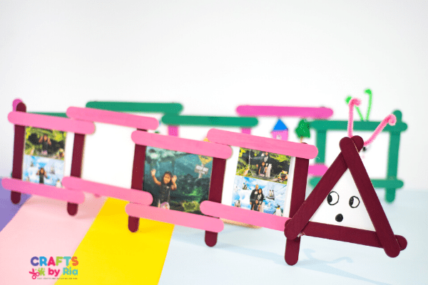 popsicle stick picture frame with stand