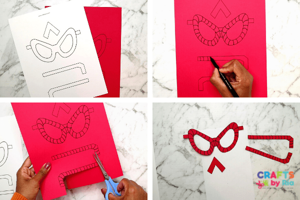 paper glasses Father's day superhero craft-step1-cut out the printable