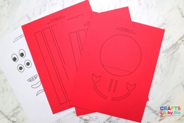Download the printable crab craft template