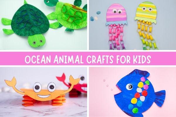 Easy ocean animal crafts for kids