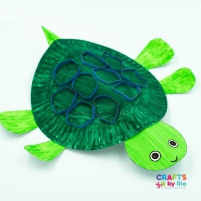 paper plate turtle craft-featured image