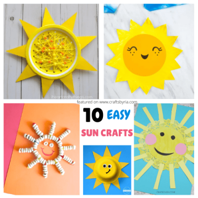 sun crafts for kids-featured image