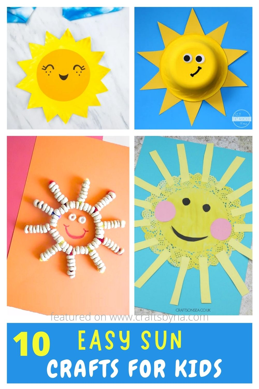 sun crafts for kids-image for pinterest
