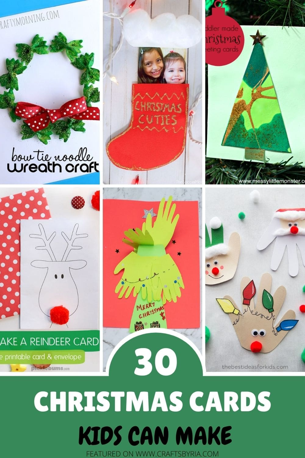 christmas card ideas for kids-pin