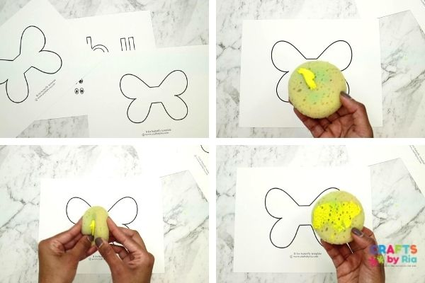Download the letter b printables preschool and sponge paint it.