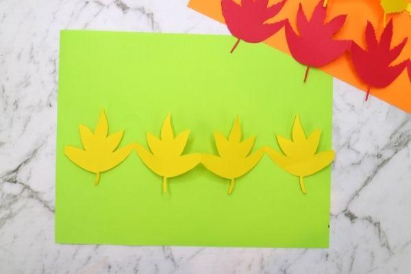 fall paper leaf chain