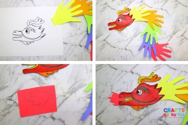 download handprint dragon template