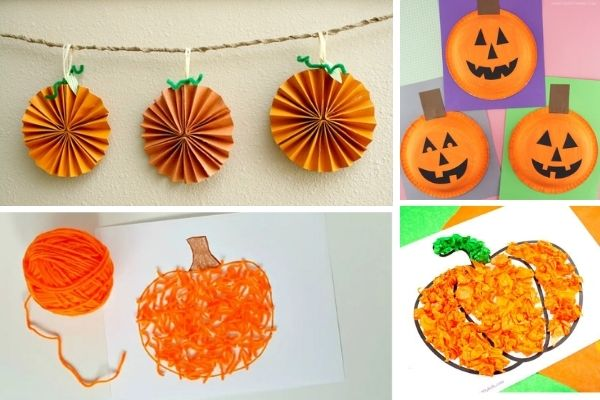 pumpkin arts and crafts for kindergarten