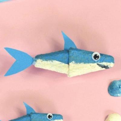 egg carton shark craft