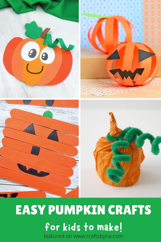 simple pumpkin crafts for kids