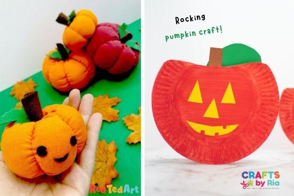 Halloween easy pumpkin Jack O Lantern crafts