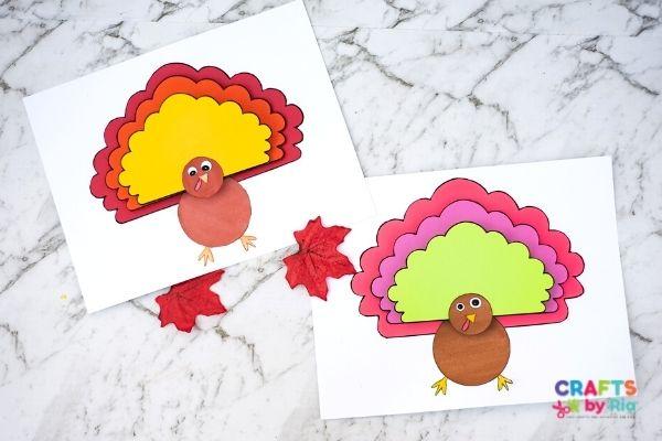 printable turkey craft