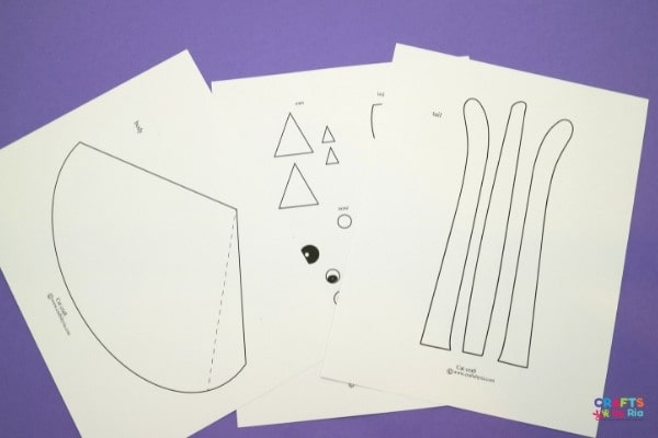 Download the cat craft template