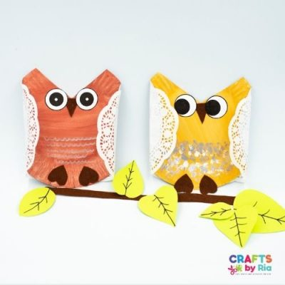 easy paper plate owl craft-featured image