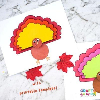 paper turkey craft-featured