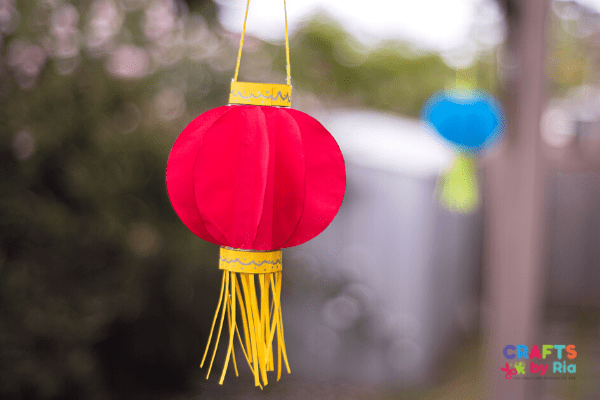 Easy chinese paper lantern craft for kids