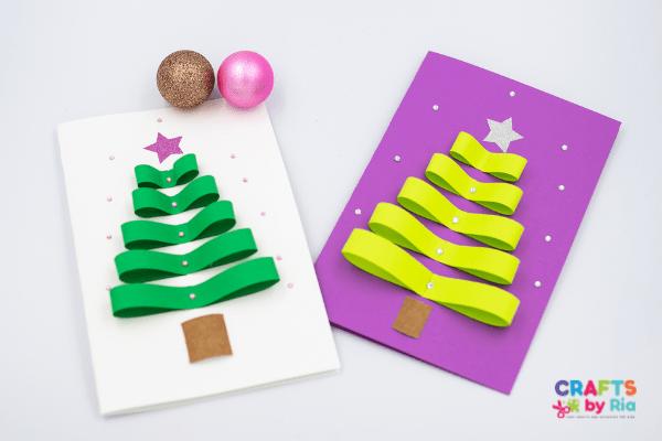 paper Christmas tree card (1)