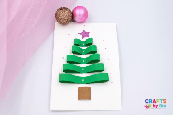 paper Christmas tree card (2)