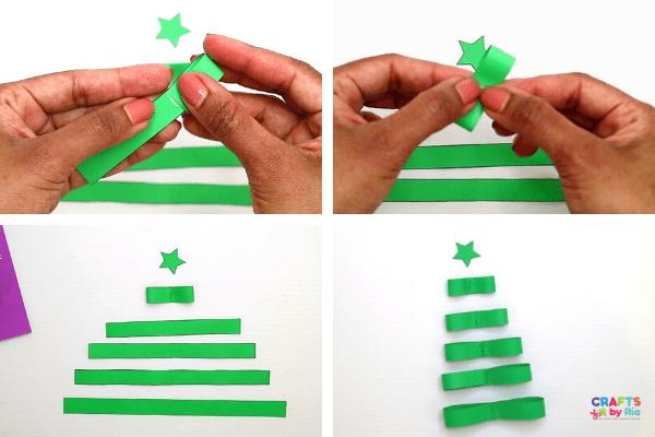 Make small bow like shapes