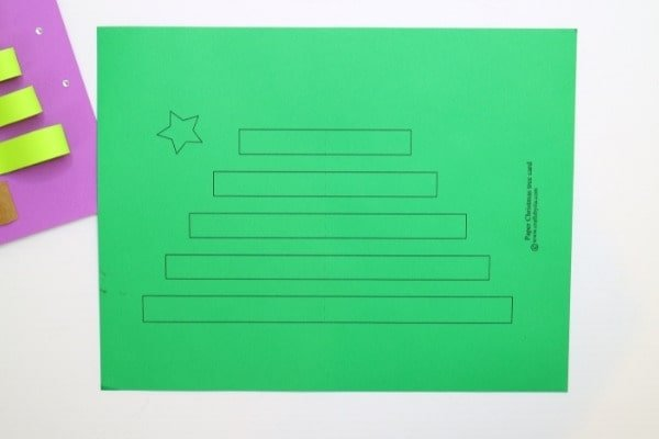 Download the Christmas tree card template