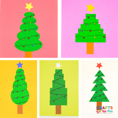 shapes christmas tree craft-featured image